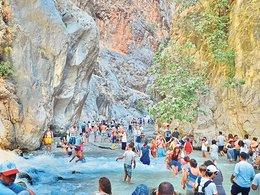 Saklıkent Kanyonu rekora koşuyor