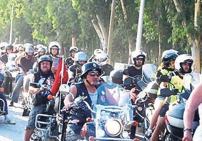 Motorcular Köyceğiz'de bir arada