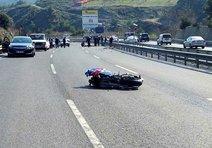 Yeni aldığı yarış motosikleti sonu oldu