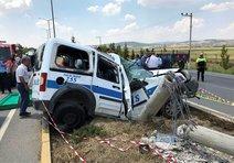 Ekip otosuyla kaza geçiren polis şehit oldu