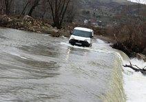 6 Köyün Ulaşımını Sağlayan Köprü Sular Altında