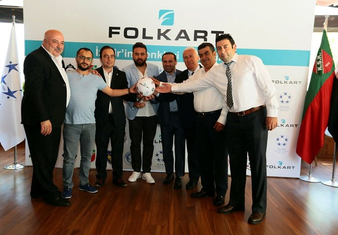 Folkart İzmir spor kulüplerine, İZVAK işbirliğiyle 1 milyon 534 bin TL'lik destek verdi