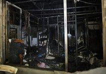 112 ambulans istasyonu kömür oldu