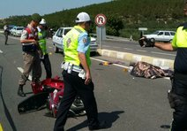 Motosiklet kazasında 1 ölü, 1 ağır yaralı