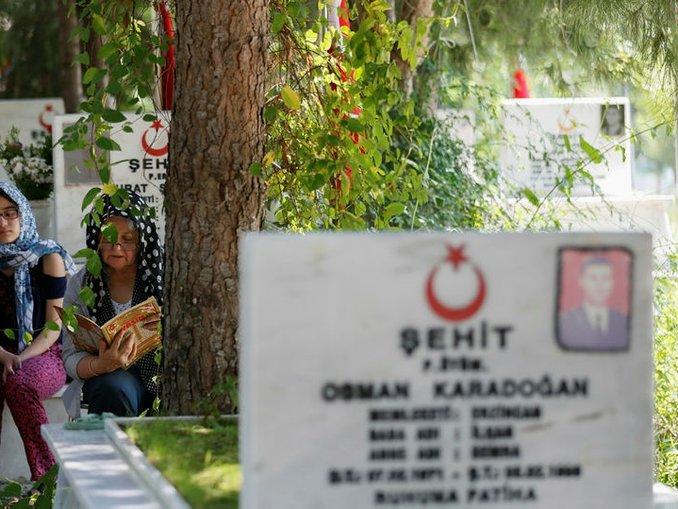 İzmirde şehit yakınları mezarlıkları ziyaret etti