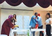 Heyecanlanan damat gelin yerine Abdullah'ı öptü